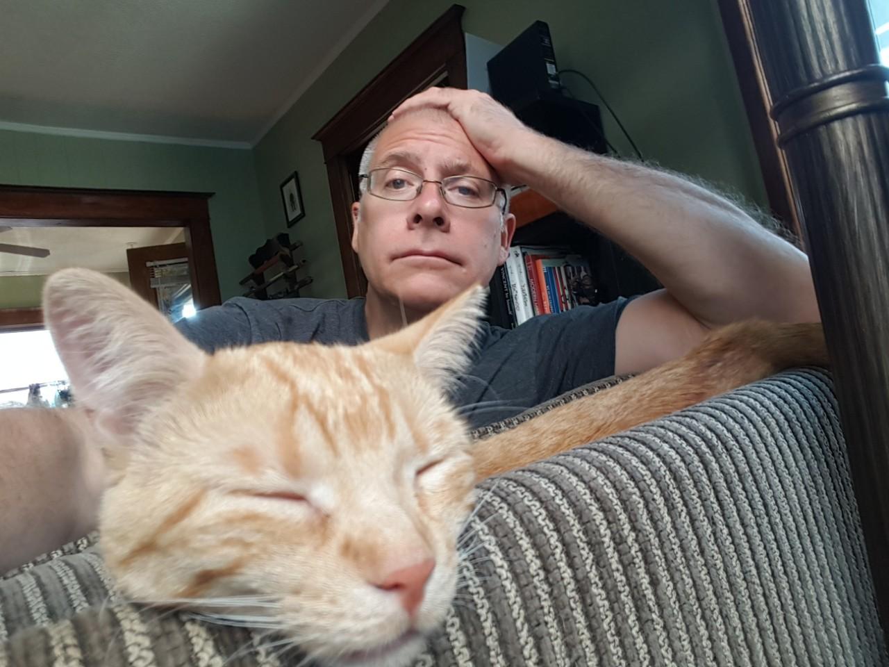 John Winkelman and Poe Kitten